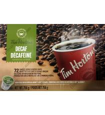 Tim Hortons Decaffeinated Coffee, 72 cups, 756 g