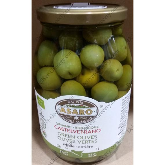 Asaro Organic Castelvetrano Green Olives 1 L