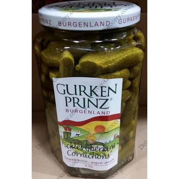 Gurkenprinz Burgenland Sweet-Sour Pickles 1.5 L