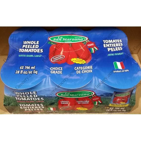 La San Marzano Whole Peeled Tomatoes 6 x 796 ml