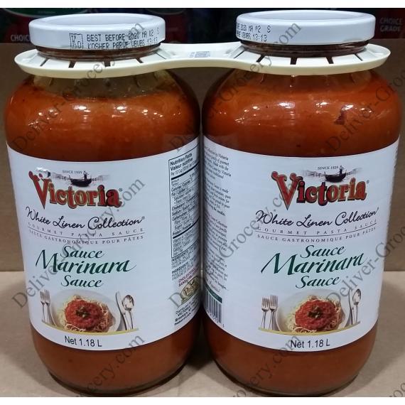 Victoria de Lin Blanc, les Pâtes de Sauce Marinara, 2 x 1,1 L