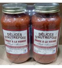 Délices Dautrfoi Sauce à la Viande 2 x 900 ml