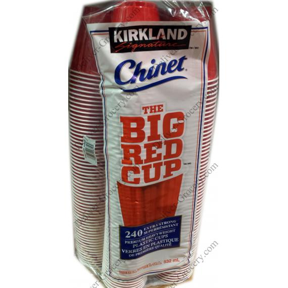 Kirkland Big Red Gobelets en Plastique, 240 tasses, 532 ml