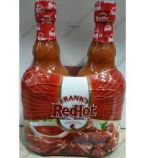Francs Red Hot Sauce au Poivre, 2 x 680 ml