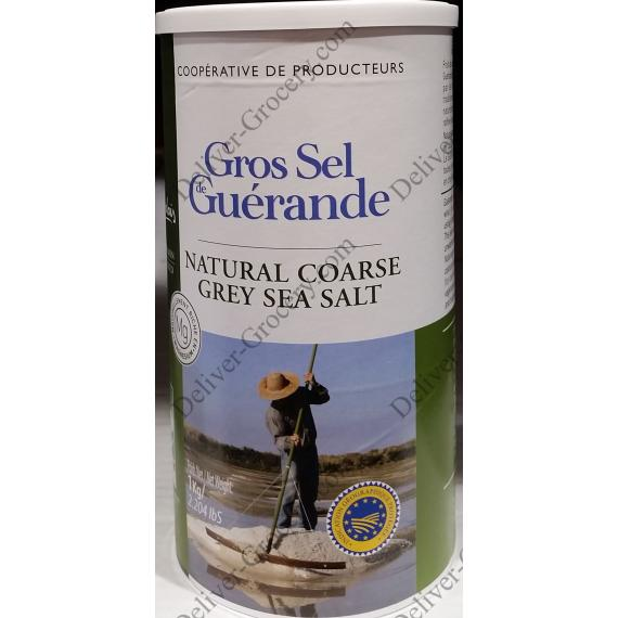 Guérande Natural Coarse Gray Sea Salt, 1 kg