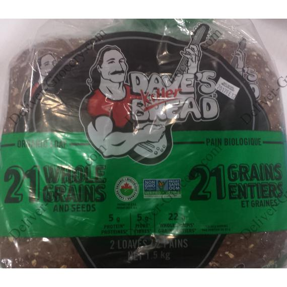 Daves Killer Bread 21 Whole Grain and Seeds Organic Bread, 2 loaves x 765 gr