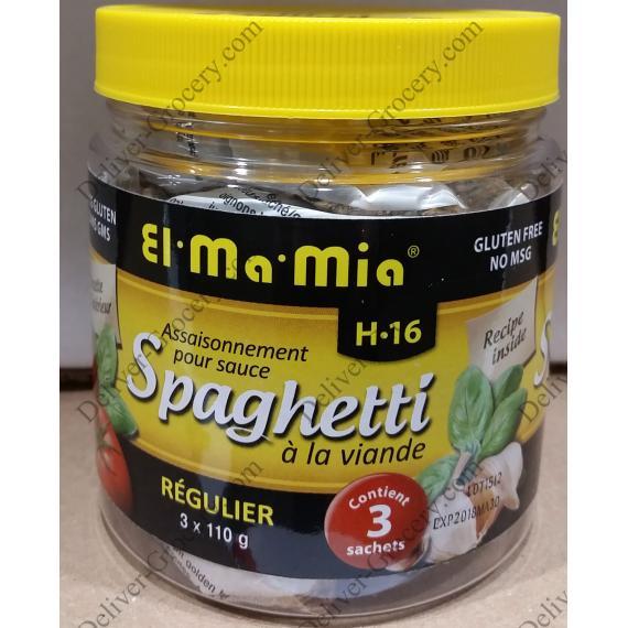El Ma Mia Assaisonnement pour les Spaghetti Sauce à la Viande, 3 x 110 g