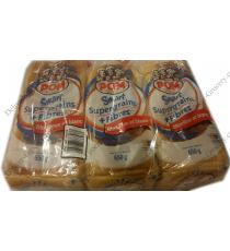 POM Smart Super Grains de Pain Blanc, de 3 packs x 650 gr