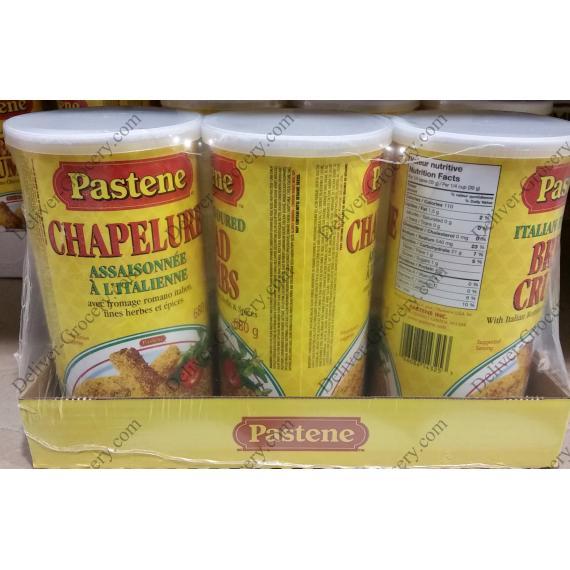 Pastene Bread Crumbs Seasoning, 3 x 680