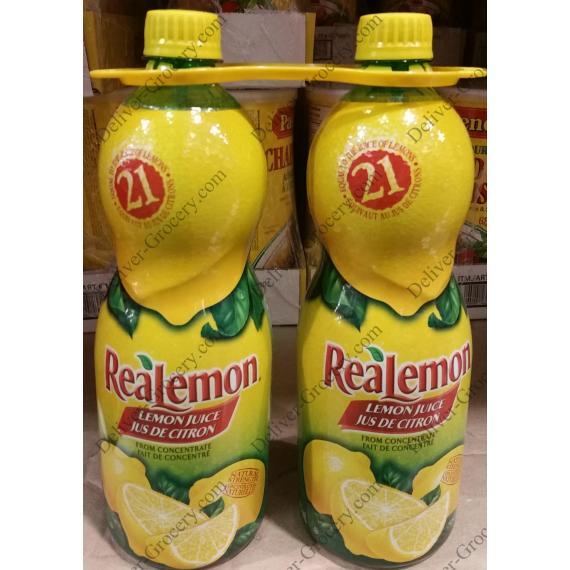 Realemon Lemon Juice, 2 x 945 ml