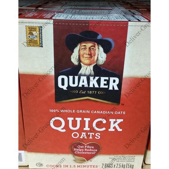 Quaker Quick Oats, 2 x 2.5 kg