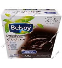 Belsoy Dark Chocolate Desert, 12 x 125 g