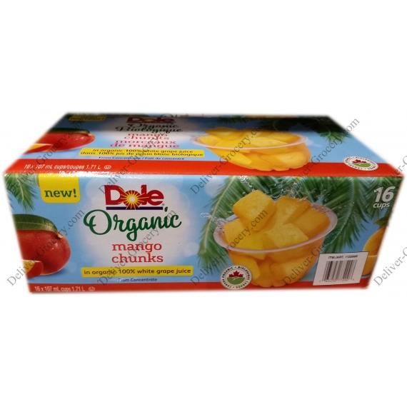 Dole Organic Mango Chunks, 16 x 107 ml