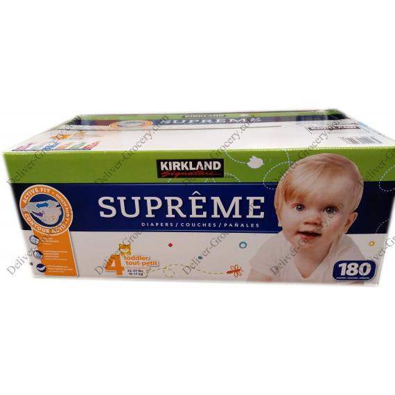 Kirkland Signature Supreme Diapers 180 x