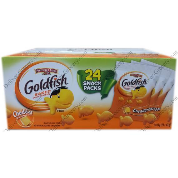 Pepperidge Farm Goldfish Baked Snack Crackers, 24 x 43 g