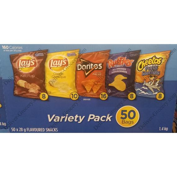 Frito Lay Variety Pack, 50 x 28 g