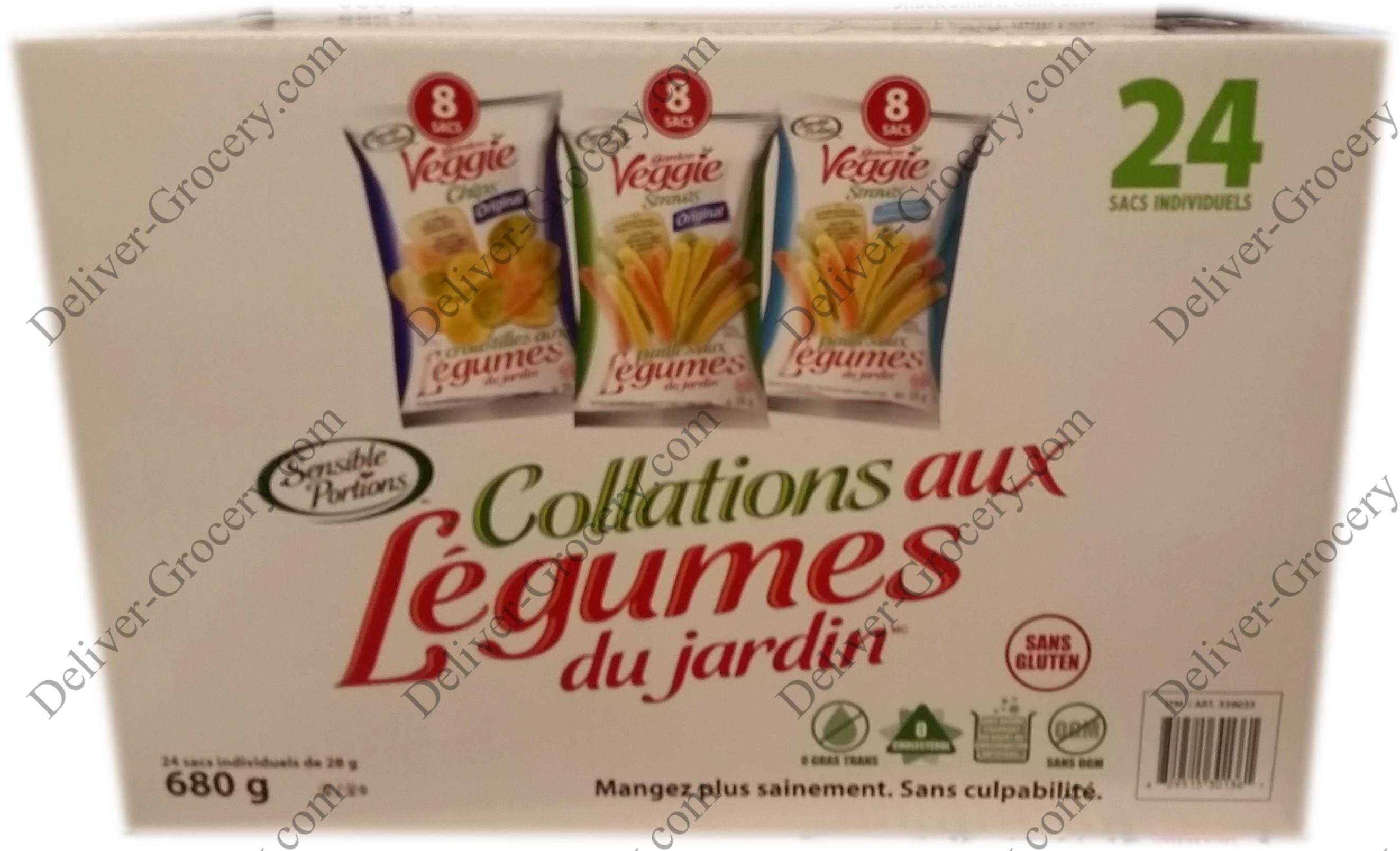 Sensible Portions Garden Veggie Snacks, 24 x 28 g - Deliver-Grocery ...
