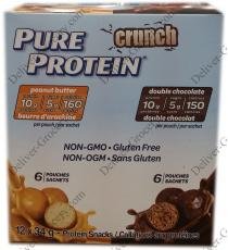 Protéine Pure Crunch Protéine Collations, 12 x 34 g