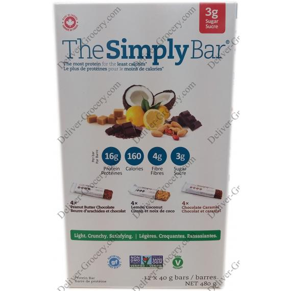 The Simply Bar Protein Bar, 12 x 40 g