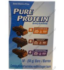 Pure Protein Bar Variety Pack, Gluten Free, 18 x 50 g, 900g
