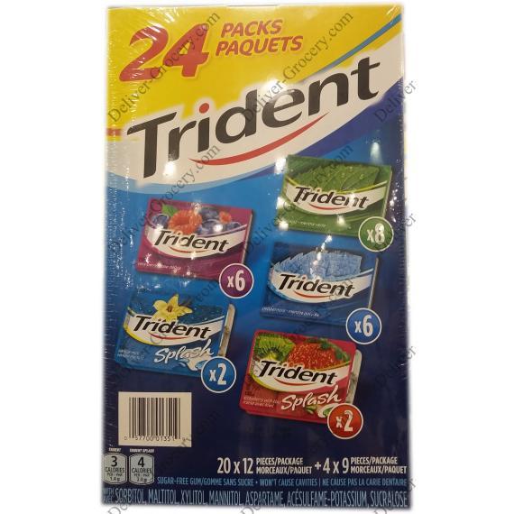 Trident Variété Pack Gum, 24 x packs,