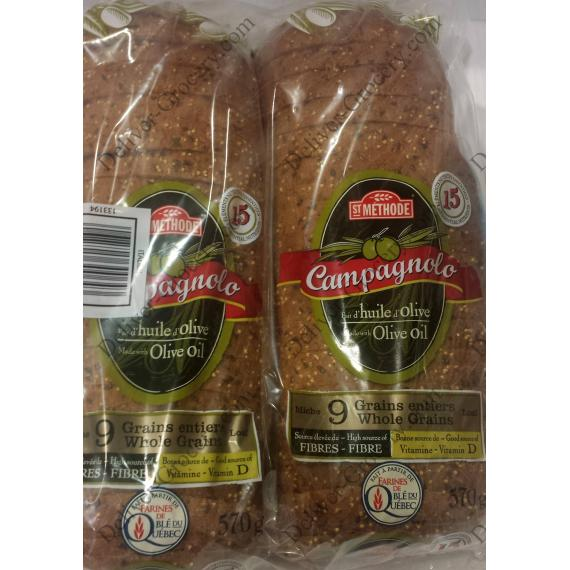 Boulangerie St-Methode Campagnolo 9 Whole Grains Bread, 2 packs x 570 gr