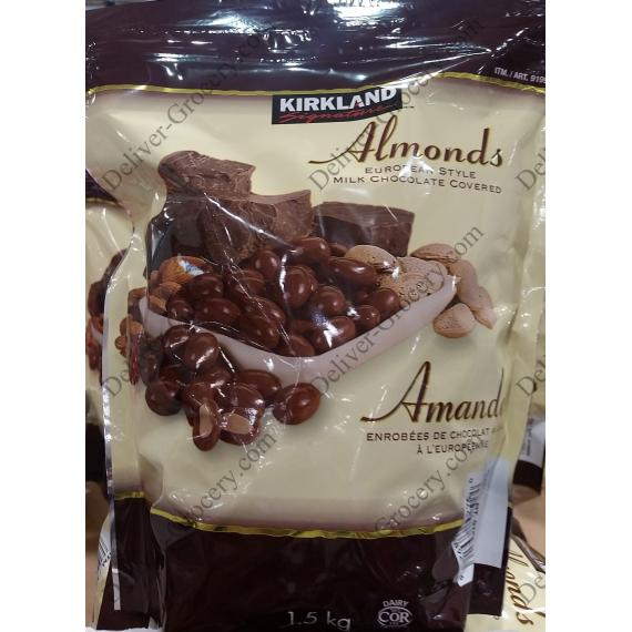 Kirkland Signature Chocolate Almonds, 1.5 kg