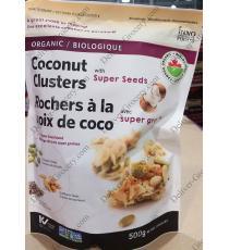 INNO des Aliments de Spécialité de noix de Coco Biologique Clusters, 500 g