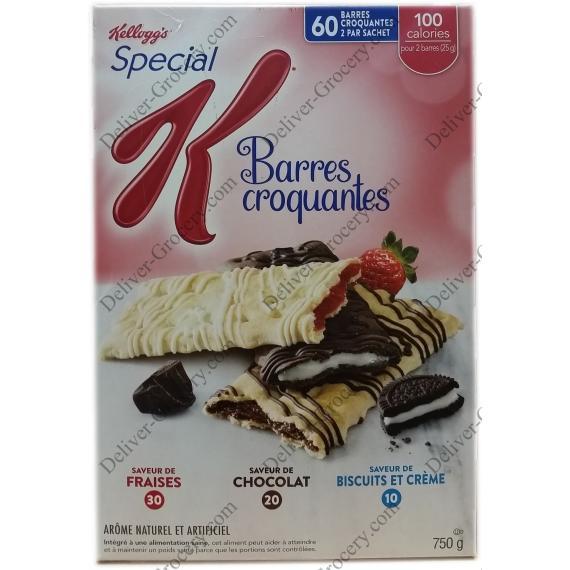 Kelloggs K Crisps Bars, 750 gr