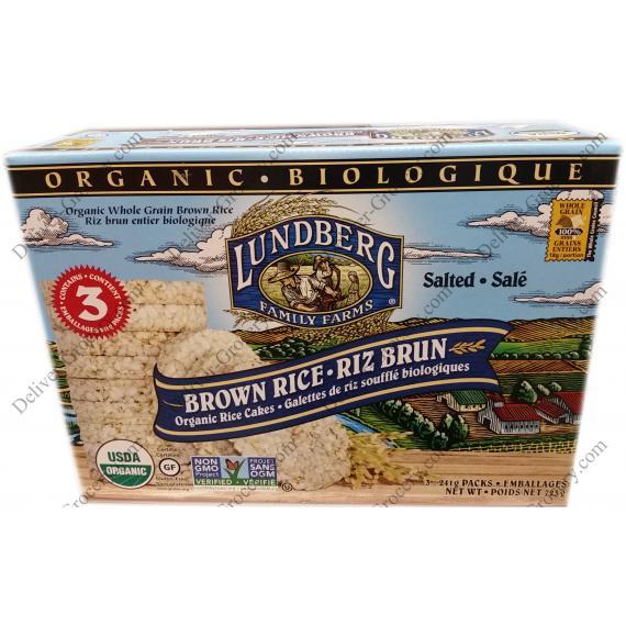 Lundberg Organic Whole Grain Brown Rice Cake, 3 x 241 g packs