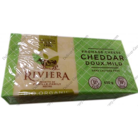 RIVIERA Bio Fromage Cheddar Doux, 630 g