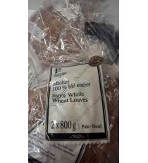 Premiere Moison 100% Whole Wheat Loaves (bread), 2 packs x 800 g
