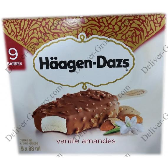 HAAGEN-DAZS Vanilla Almonds, 9 x 88 ml