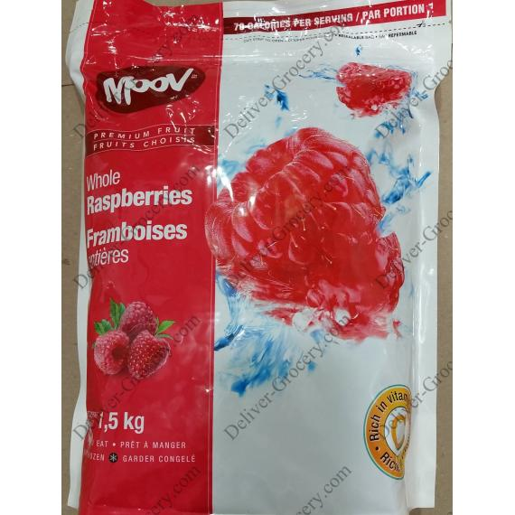MOOV Whole Raspberries, 1.5 kg