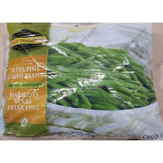 Family Tradition Extra Fine Organic Green Beans, 2.5 kg