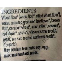 Premiere Moison Sprouted 8 Grain Squares Biologique Bread, 2 packs x 750 g