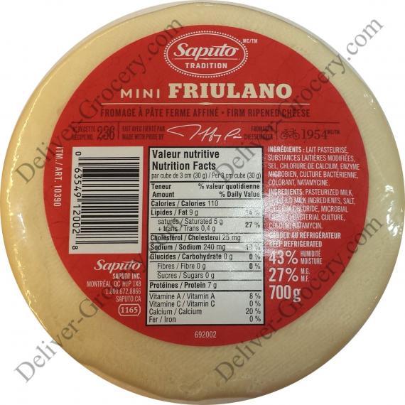 Saputo Mini Friulano Cheese, 700 gr
