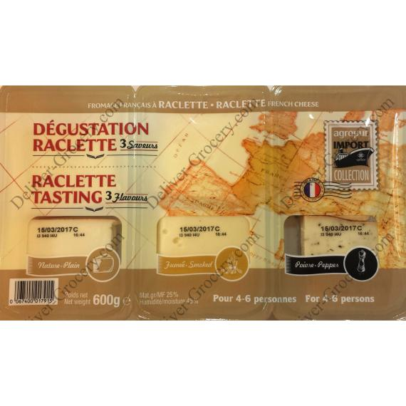Agropur Raclette Dégustation de Fromage, 600 gr