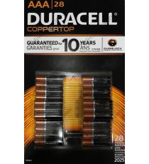 Duracell AAA Alkaline Battery, 28 batteries
