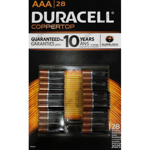 Duracell Pile Alcaline AAA, 28 batteries