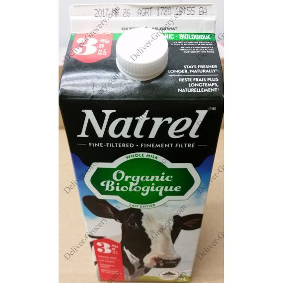 Natrel Organic Whole Milk 3.8%, 2 L