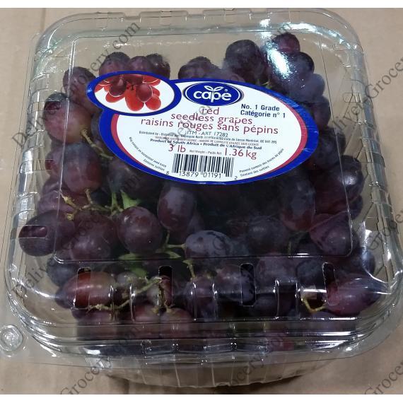 Cap de Raisins Rouges sans pépins, 1,36 kg