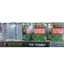Le Sieur Tender Peas, 12 x 398 ml
