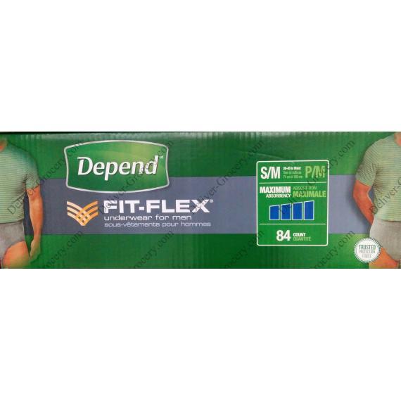 Depend FIT-FLEX Underwear for Men, 84 counts