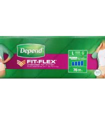 Depend FIT-FLEX Underwear for Women, 76 counts
