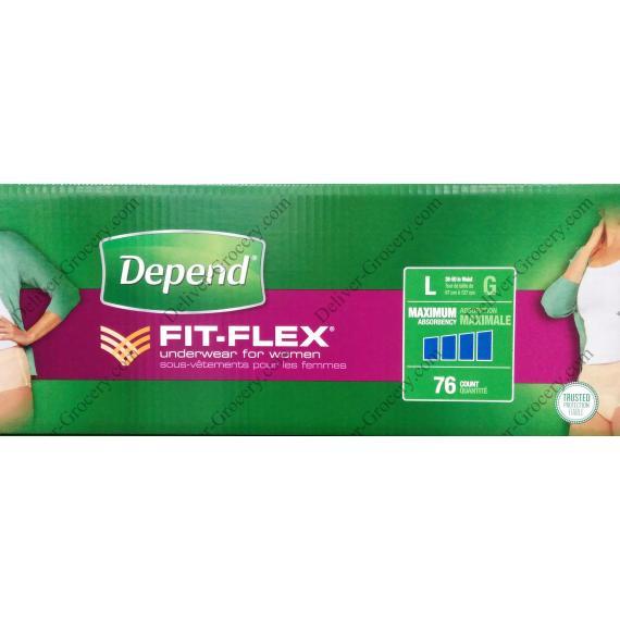 Depend FIT-FLEX Underwear for Women, 76 counts