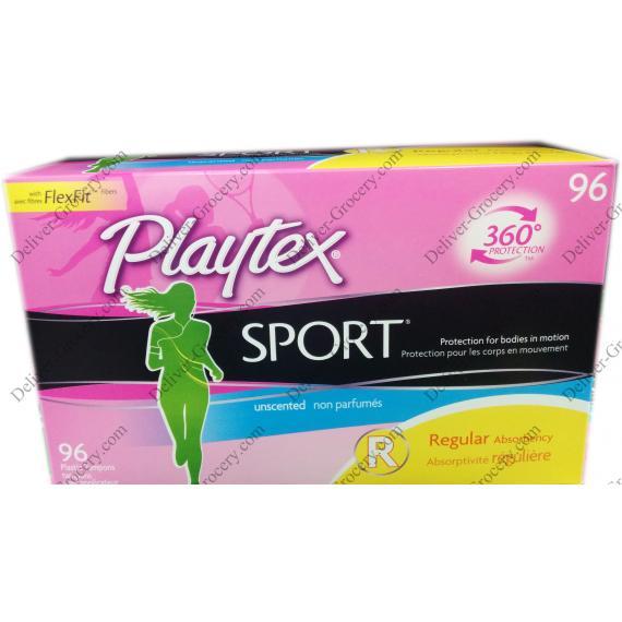 Playtex Sport Plastic Tampons, 96 counts