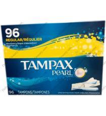TAMPAX PEARL Regular Plastic Tampons, 96 X