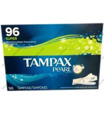 TAMPAX PEARL Super Plastic Tampons, 96 X