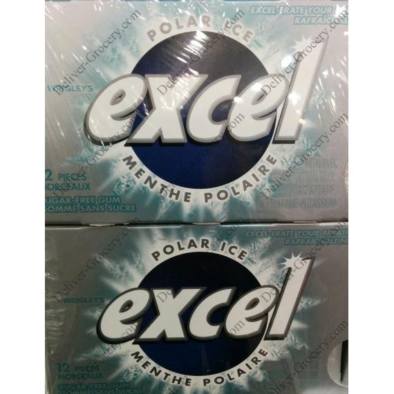 Excel Polar Ice Sugar Free Gum, 12 pieces,